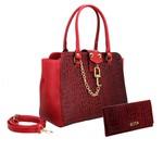 Bolsa + Carteira Inspiration Selten Cadeado Vermelha