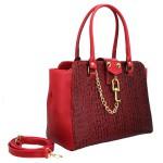 Bolsa Feminina Inspiration Selten Cadeado Vermelha