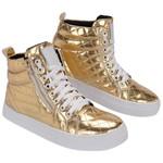 Bota Treino Academia Sneaker Dourada - Selten
