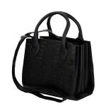Bolsa + Carteira Selten Handbag Sanfonada Feminina Preta