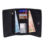 Kit de Bolsa Feminina Azul Claro Transversal com Bolsa Tiracolo e Carteira - Selten