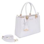 Kit de Bolsa Feminina Branca Transversal com Bolsa Tiracolo e Carteira - Selten