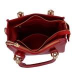 Kit de Bolsa Vermelha Transversal com Bolsa Tiracolo e Carteira - Selten