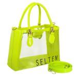 Bolsa Feminina Lorena Selten Transparente Verde