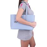Bolsa Feminina Selten de Ombro com Necessaire Azul