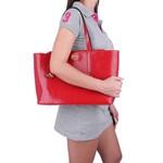 Bolsa Feminina Selten de Ombro com Necessaire Vermelha