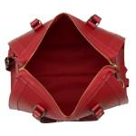 Bolsa Bau + Carteira Selten Escama Alça Removível Vermelha