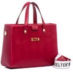 Bolsa Feminina Selten de Mão com Alça Transversal Vermelho