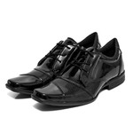 Sapato Social Selten Masculino Preto Verniz