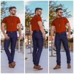 Calça Jeans Masculina Slim Azul