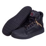 Tênis Feminino Sneaker De Treino Academia D3 Preto em Couro