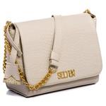 Bolsa Feminina Kit Com 3 Bolsas Grande Pequena E Necessaire Creme