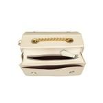 Bolsa Creme Clutch Pequena de lado Alça de corrente Roma