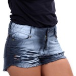 Short Feminino Customizado Cinza