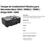 Tanque Plástico Mercedes Benz 1634 / 1938 / S / LS / ATEGO 2425 / 2426 - 300 Litros