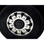 Capa para Porca de Roda Plástica 33mm Bepo Cromada Redonda