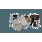 Capa para Porca de Roda Plástica 33mm Bepo Cromada Quadrada