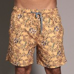 SHORT WEEKEND NAVY GRAPHIC OBJECTS AMARELO