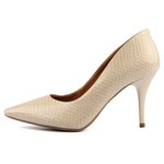 SCARPIN FACTOR - ANIMAL PRINT SNAKE SALTO MEDIO- OFF WHITE