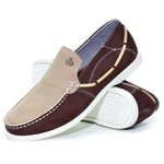 Mocassim Masculino Shoes Grand 4761/2 Bordo-Areia