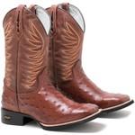 Bota Texana Avestruz Réplica + Chinelo Red Dead High Country