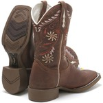 Bota Texana Feminina High Country 9724 Crazy Horse Castanho