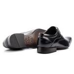 Sapato Social Masculino Furos Bico Fino Couro Legítimo