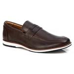 Sapato Loafer Premium em Couro Confort Tchwm Shoes Marrom