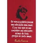 Bolsa Paulo Freire Vermelha