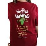Camiseta Cora Coralina Professor bordô