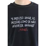 Camiseta Renato Russo Pais e Filhos Preta