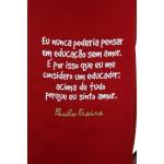Avental Paulo Freire Vermelho