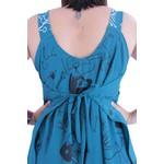 Vestido Saruel Miró Azul Petróleo