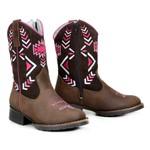Bota Texana Infantil Menina Bico Redondo