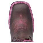 Bota Hopper Laser Pink Couro Bico Quadrado