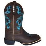 Bota Texana Feminina Azul em Couro TexasKing