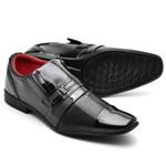 Sapato Social Masculino Top Franca Shoes Verniz Preto