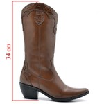 BOTA FEMININA COUNTRY BICO FINO TOP FRANCA SHOES CARAMELO