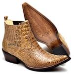 Botina Bota Country Bico Fino Top Franca Shoes Jacare Nozes