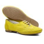 Sapato Social Feminino Oxford Confort Amarelo