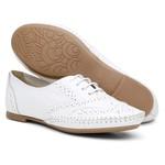 Sapato Social Feminino Oxford Confort Branco