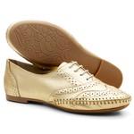 Sapato Social Feminino Oxford Confort Ouro