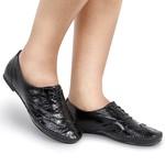 Sapato Social Feminino Oxford Confort Verniz Preto