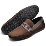 Kit Mocassim Masculino Polo Culture Cafe + Chinelo