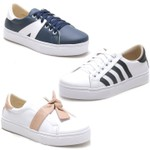 Kit 3 Pares Tenis Sapatenis Feminino Top Franca Shoes
