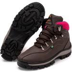 Bota Coturno Adventure Top Franca Shoes Marrom Rosa