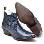 Bota Country Masculina Bico Fino Top Franca Shoes Azul