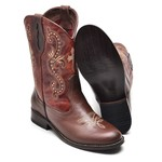 Bota Country Feminina Top Franca Shoes Castor / Conhaque