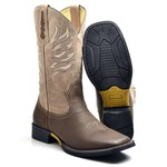 Bota Country Texana Top Franca Shoes Crazy Horse Cafe / Marmore