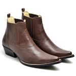 Botina Bota Country Bico Fino Top Franca Shoes Cafe